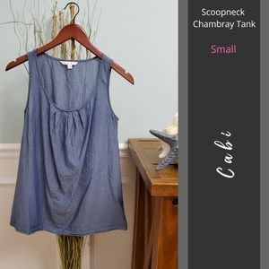 Cabi | Scoopneck Chambray Tank